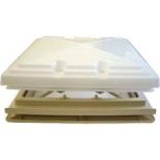 (Ref 241)  MPK 400mm x 400mm Roof Light vent with Dome Opaque dome & fly screen Beige MPK Spares / Parts Replacement Part For Caravan Motorhome