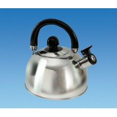(Ref 337B) Chrome 1.6 ltr Gas Hob Kettle with folding handle  Caravan Motorhome