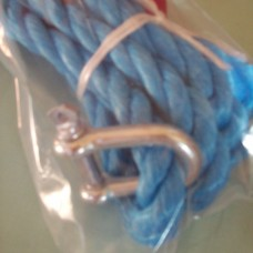 (Ref 372)  GRAYSTON Heavy Duty 5250 Kg Tow rope 20mm 4 Mtrs Long with D Shackles