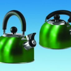 (Ref 337 GREEN) SU320 GREEN 1.6 litre  Gas Hob Kettle with fold down handle Caravan Motorhome