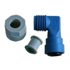 (Ref 57A ) 70151-03 Elbow Fitting John Guest 12mm Blue for the Truma Ultrastore series 2 & 3 and Truma Boat Boilers CARAVAN MOTORHOME